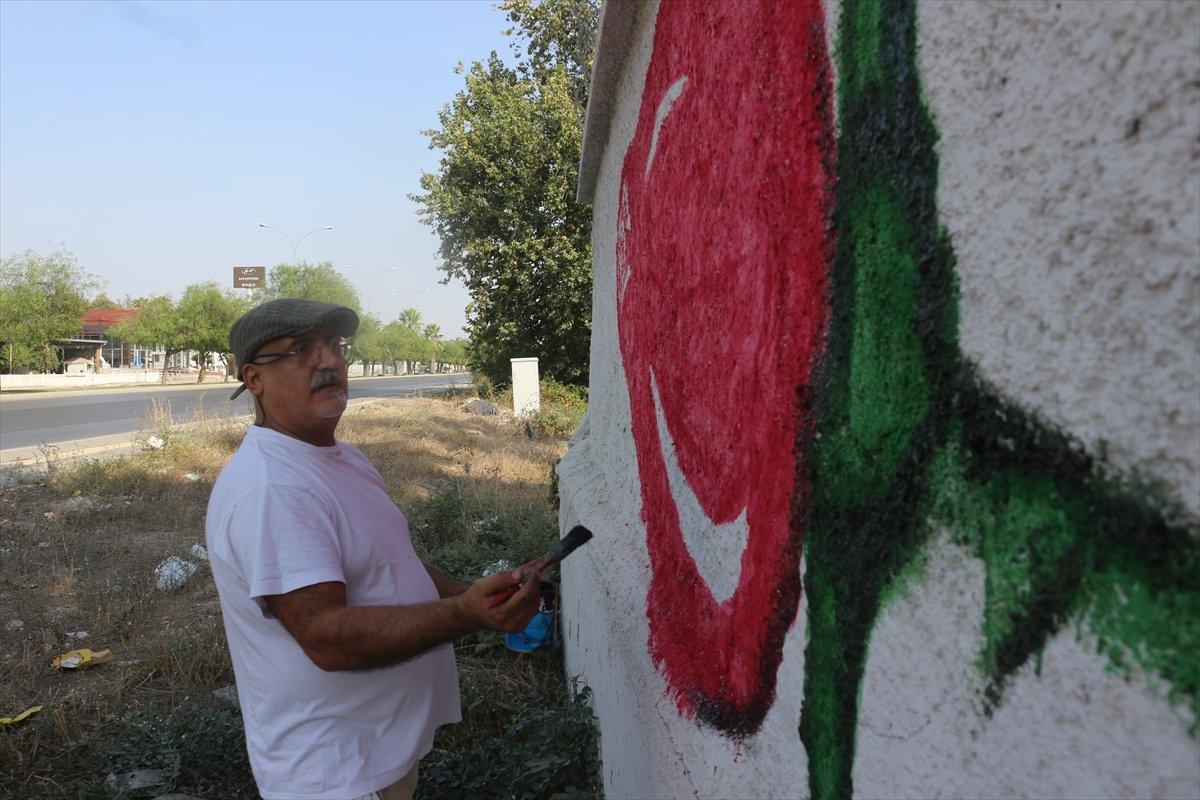 Adanalı ressamın çizimleri sokakları süslüyor #2